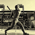 Mike Schmidt at Bat Print by Bill Cannon
