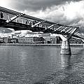 Millennium Foot Bridge - London by Mark E Tisdale