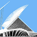 Milwaukee Skyline Art Museum - Light Blue by DB Artist