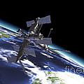 Mir Russian Space Station In Orbit by Leonello Calvetti