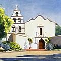 Mission San Diego De Alcala by Mary Helmreich