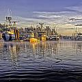 Misty Morning At The Docks by Evan Spellman