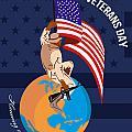 Modern American Veterans Day Greeting Card by Aloysius Patrimonio