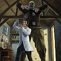 Monster In Victorian Science Laboratory by Martin Davey