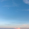 Moon And Pink Cloud by Michelle Wiarda