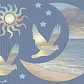 Moon And Stars by Diane Romanello