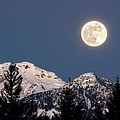 Moon Glow Whistler Canada by Pierre Leclerc Photography