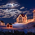 Moon Over Nubble by Michael Blanchette