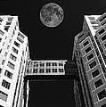 Moon Over Twin Towers by Samuel Sheats