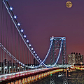 Moon Rise Over The George Washington Bridge by Susan Candelario