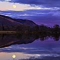 Moon Rising Over Loch Ard by John Farnan