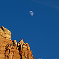 Moonrise Over Sandstone by Mike  Dawson