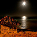 Moonset Over Windnsea by Peter Tellone