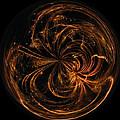 Morphed Art Globe 40 by Rhonda Barrett