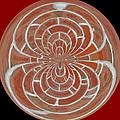 Morphed Art Globes 17 by Rhonda Barrett