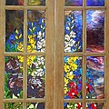 Mosaic Stained Glass - Flower Garden by Catherine Van Der Woerd