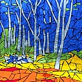 Mosaic Stained Glass - My Woods by Catherine Van Der Woerd