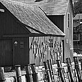 Motif Number One Bw Black And White Rockport Lobster Shack Maritime by Jon Holiday