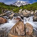 Mount Rainier Glacial Flow by Adam Romanowicz