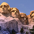 Mount Rushmore Print by Olivier Le Queinec