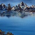 Mountain Ridge Horizon Print by Cynthia Adams