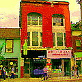 Mr Jordan Mediterranean Food Cafe Cabbagetown Restaurants Toronto Street Scene Paintings C Spandau by Carole Spandau
