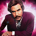 Mr. Ron Mr. Ron Burgundy from Anchorman Print by Nicholas  Grunas