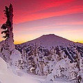 Mt. Bachelor Winter Twilight by Kevin Desrosiers