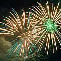 4th of July Fireworks 2 Print by Howard Tenke