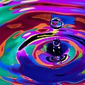Multicolor Water Droplets 1 by Imani  Morales