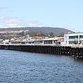 Municipal Wharf At The Santa Cruz Beach Boardwalk California 5D23813 Print by Wingsdomain Art and Photography