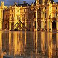 Musee Du Louvre Sunset by Brian Jannsen