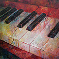 Music Is The Key - Painting Of A Keyboard by Susanne Clark