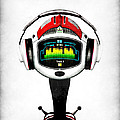 Music roboto Print by Frederico Borges