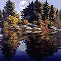 Muskoka  Moon by Michael Swanson