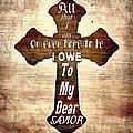My Dear Savior Print by Michelle Greene Wheeler