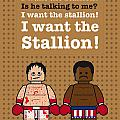 My Rocky Lego Dialogue Poster by Chungkong Art