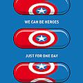 My Superhero Pills - Captain America by Chungkong Art