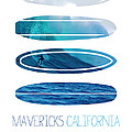 My Surfspots Poster-2-mavericks-california by Chungkong Art