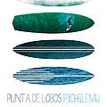 My Surfspots Poster-3-punta De Lobos-chile by Chungkong Art