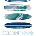 My Surfspots Poster-5-devils-point-tasmania by Chungkong Art