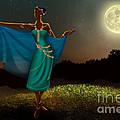 Mystic Moonlight V1 Print by Bedros Awak