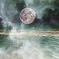 Mystical Beach Moon Print by Betsy A  Cutler