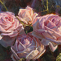 Nana's Roses Print by Karen Whitworth