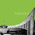 Nashville Skyline Country Music Hall Of Fame - Olive by DB Artist
