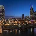 Nashville Tennessee With Pedestrian Bridge  by John McGraw