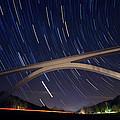 Natchez Trace Bridge At Night by Malcolm MacGregor