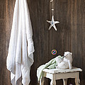 Nautical Bathroom Print by Amanda And Christopher Elwell
