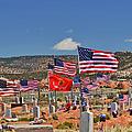 Navajo Veteran's Memorial Cemetery Tsehootsooi Print by Christine Till