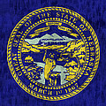 Nebraska Flag Print by World Art Prints And Designs